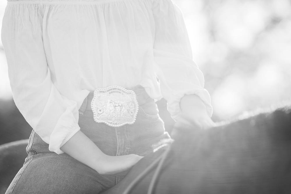 Lauren's belt buckle