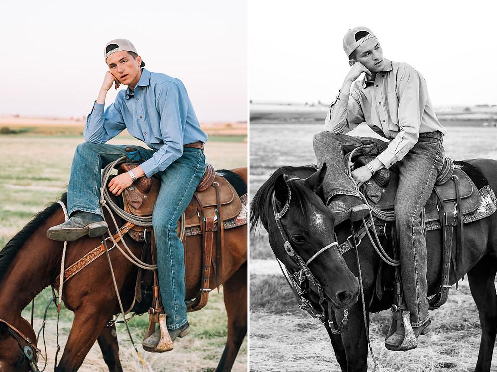 Blake sitting on his horse