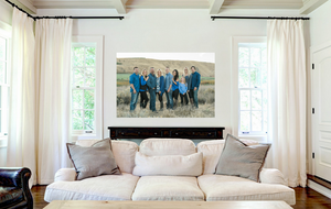 The Tolley Family Standout Print on wood