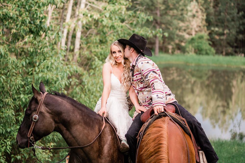 Cassy & Jake Davis, equestrian adventure wedding in Rathdrum, Idaho