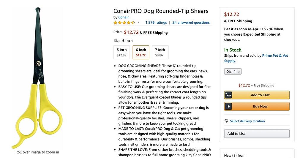 dog grooming shears from amazon