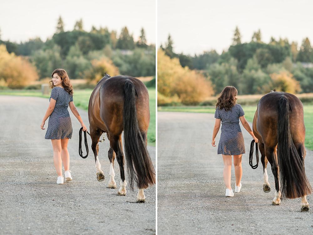 Lauren & Ozzy walking away