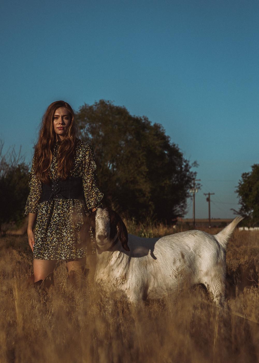 high fashion shot of Alissa Carvo