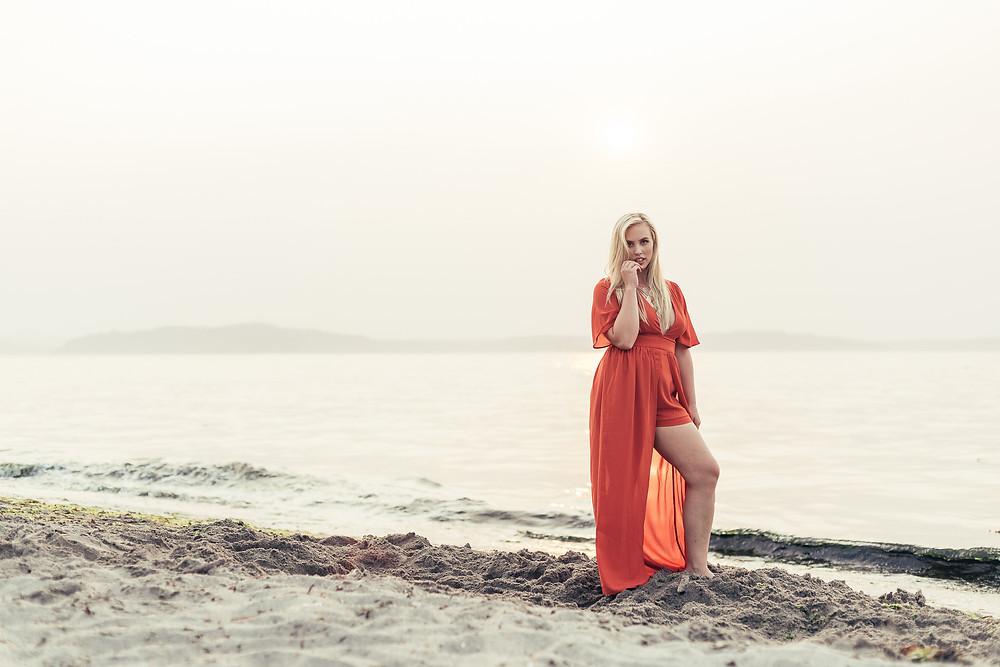 Sarah on Alki Beach