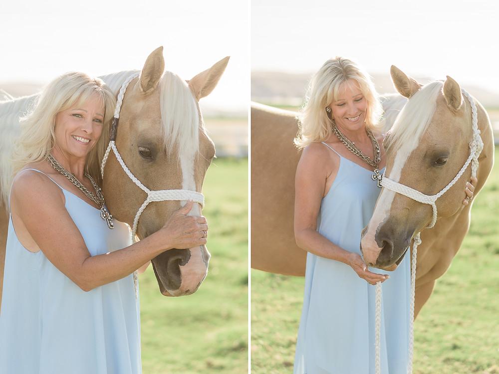 Trisha and her horse Zyr