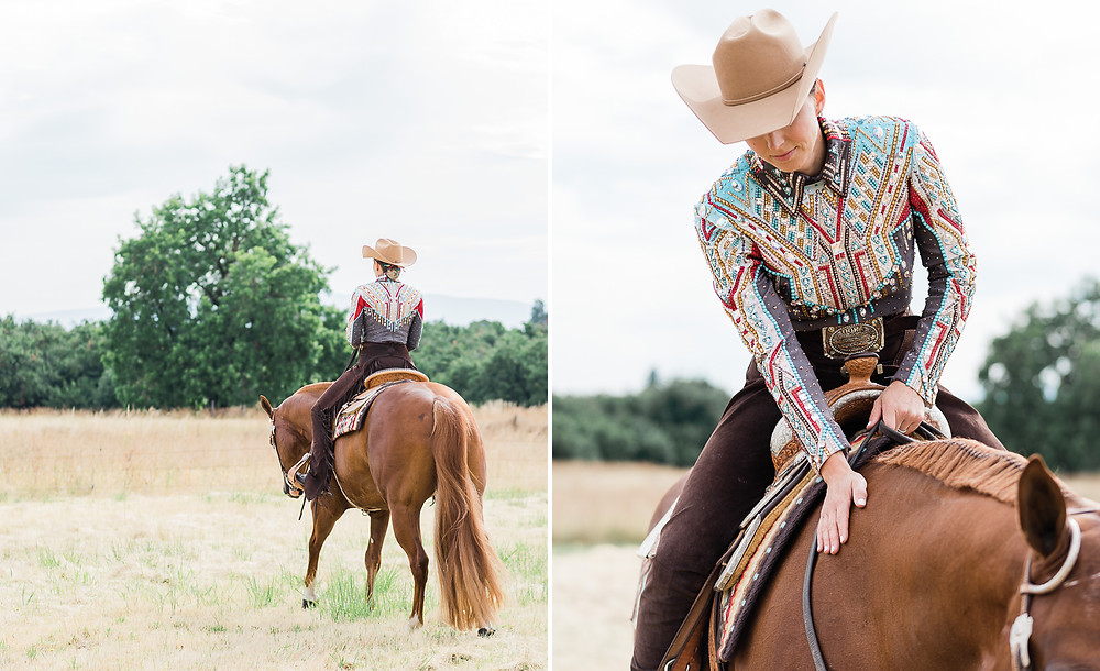 Lena in her horsemanship outfit