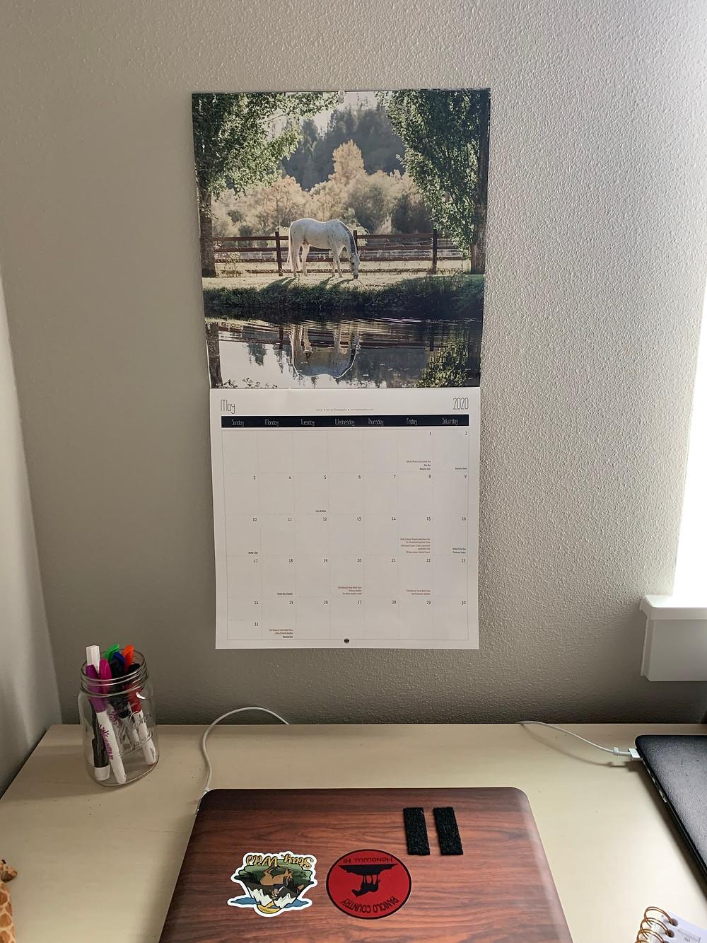 May 2020 Appaloosa Journal Calendar