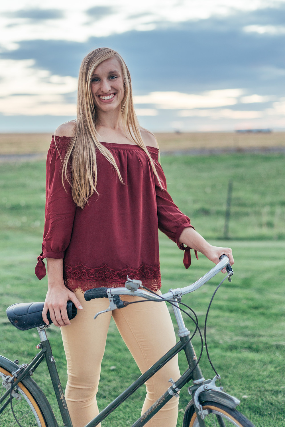 Abby and her bike, senior 2018
