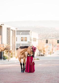 Breanna Howell | Downtown Wenatchee | Horse & Rider Portrait