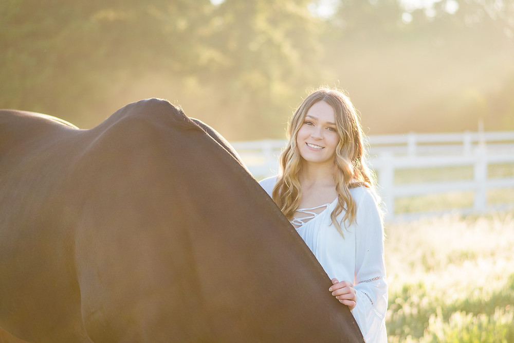 Lily Richardson and her horse, Riley