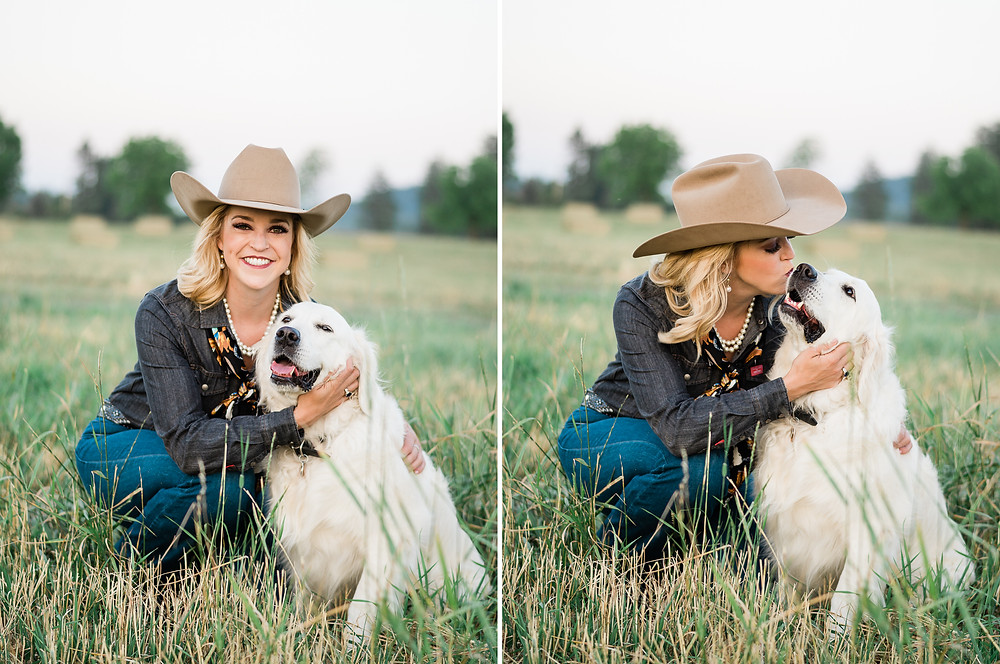 Katherine and her golden retriever Callie
