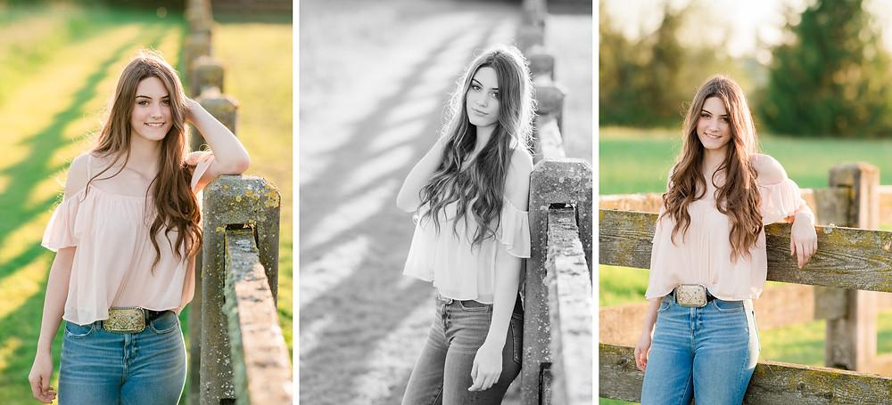 individual shots of Lauren for her senior portraits