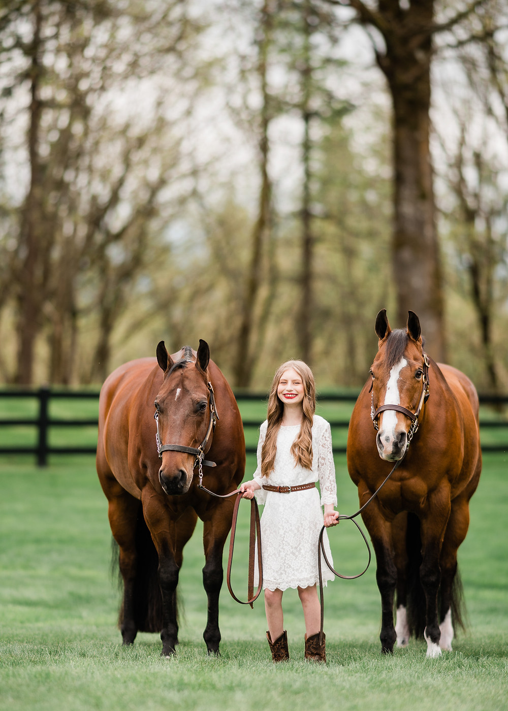 Victoria Coombs with her two special ponies