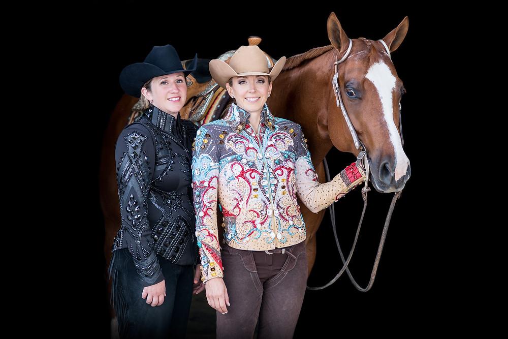 Lena with her trainer, Sarah Raschein