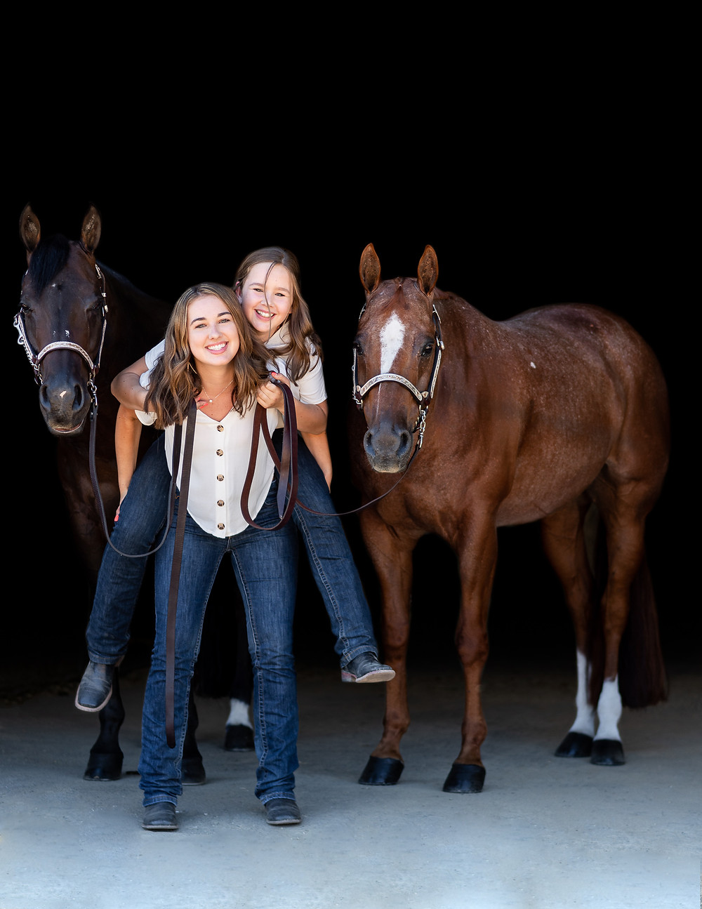The Gratchner sisters and their horses