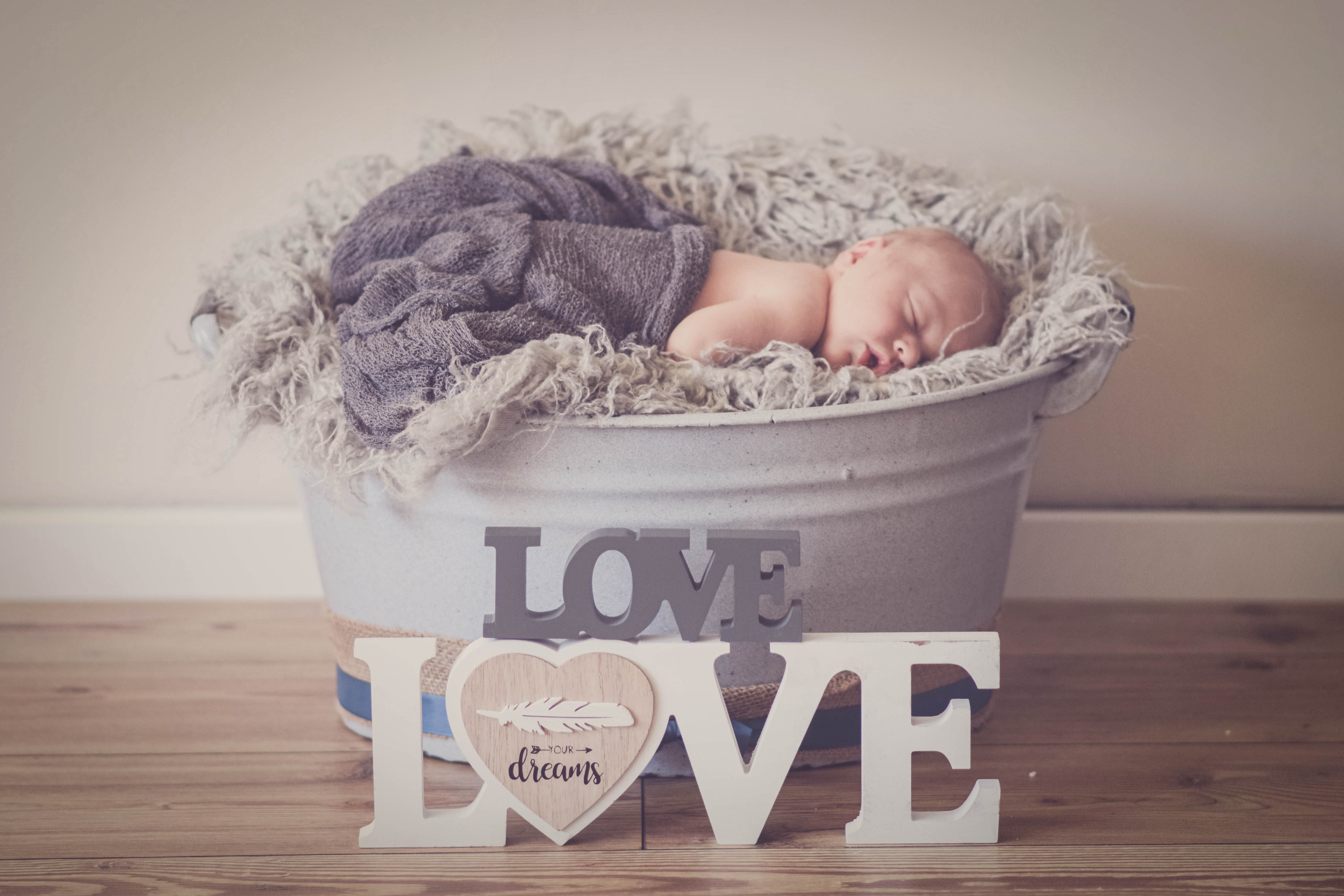 Newborn at Home Fotoshooting