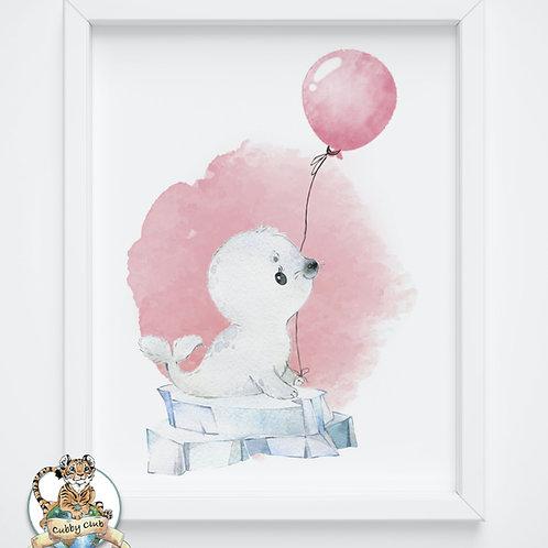 Personalisierte Kinderillustration Roberta Robbe Watercolor Fine Art Druck
