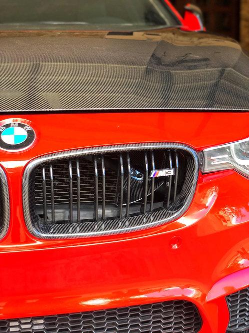 Parrillas fibra de carbono estilo M3 para BMW F30