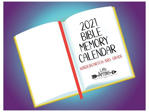 K- 3rd Grade Memory Verse Calendar
