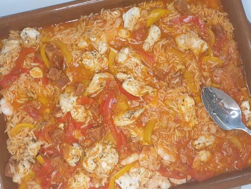 JAMBALA de poulet, crevettes et riz basmati.