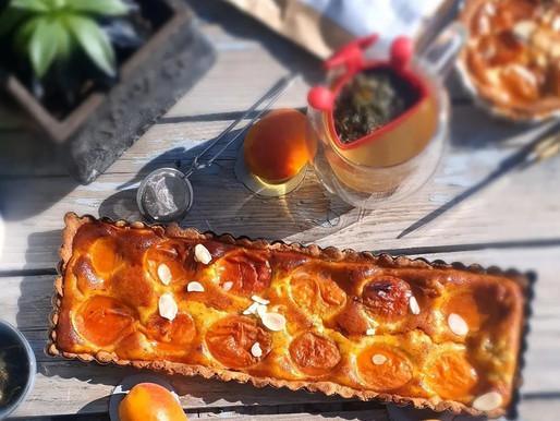 Tarte sablée sans gluten aux abricots