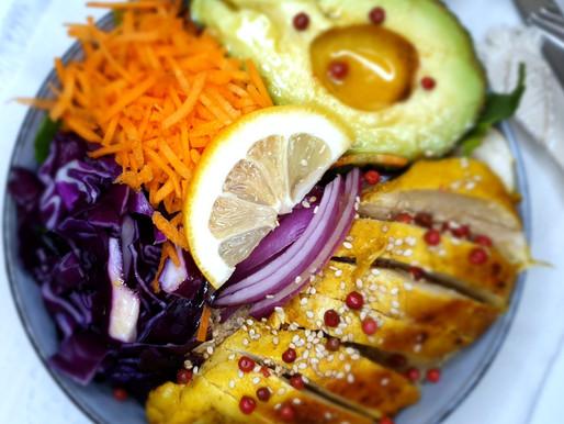 POKEBOWL, poulet et quinoa