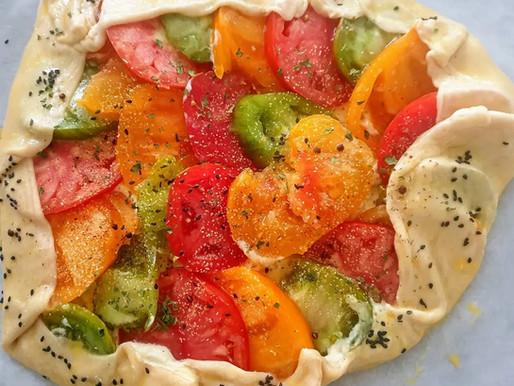 Tarte rustique ricotta et tomates
