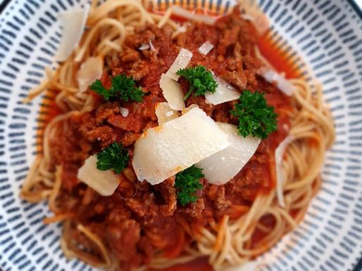 Spaghetti bolognese sans gluten