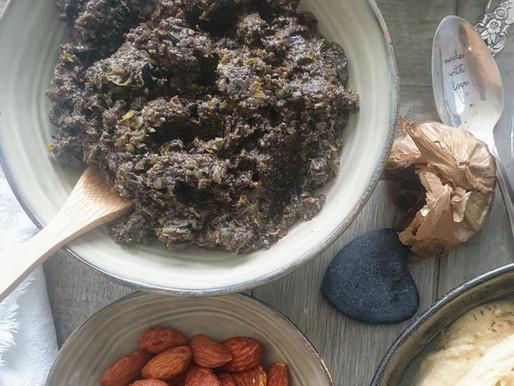 Tapenade d'olives noires à l'ail noir bio