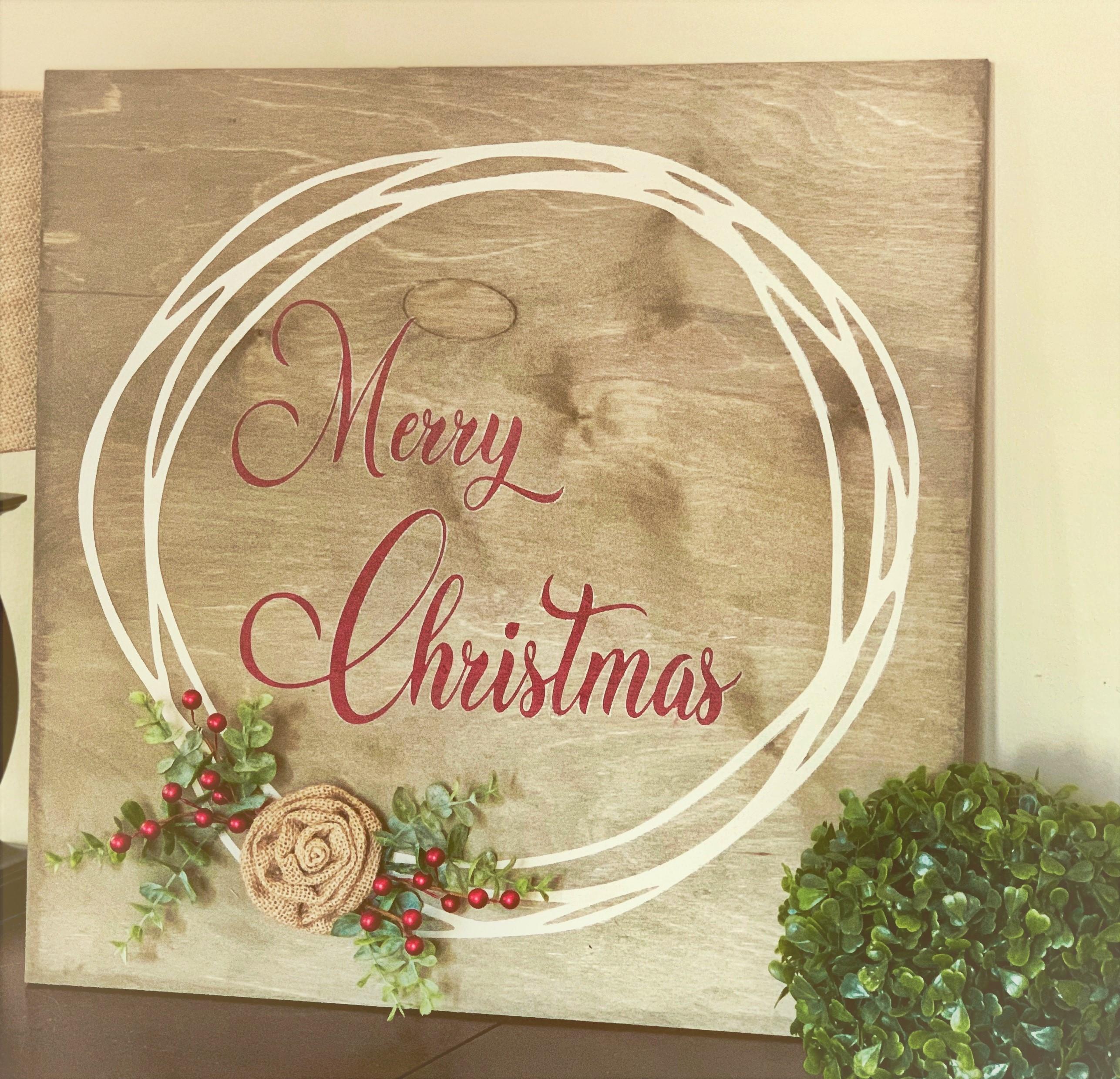 323 Merry Christmas Circle