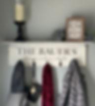 Custom Coat Hanger Shelf