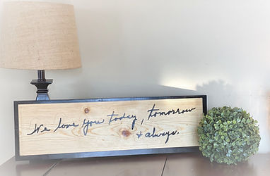 3D Wooden Handwritten Sign
