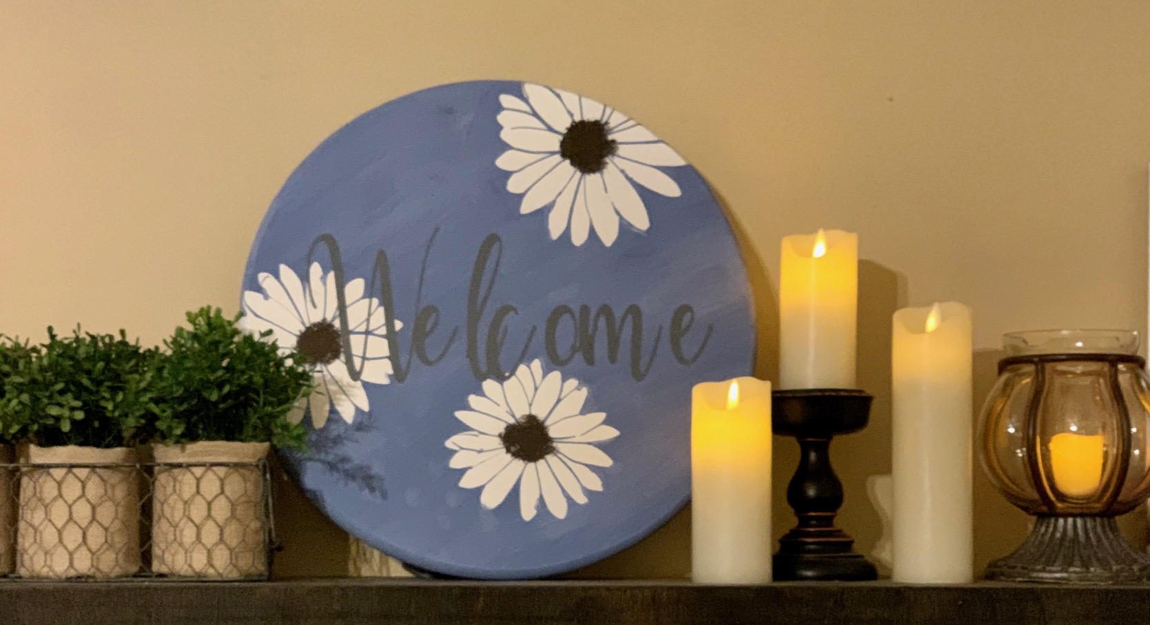 223 Daisy Welcome - Round
