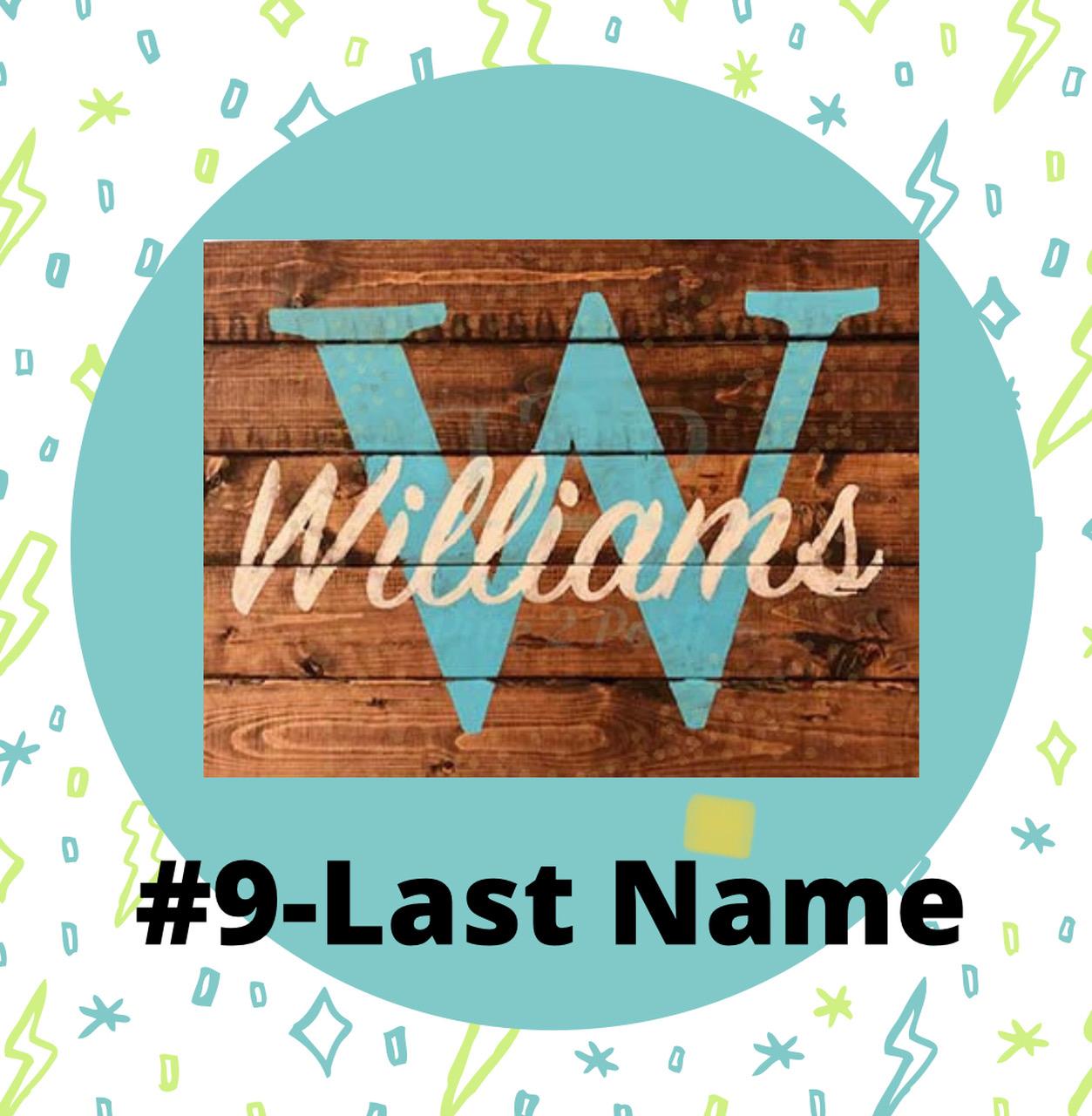 9 Last Name