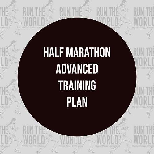 Half Marathon Advanced Training Plan