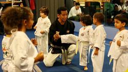 Taekwondo Kicking in Wee Kick Class