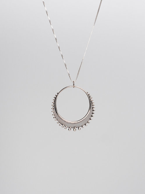 Dotted Crescent Necklace