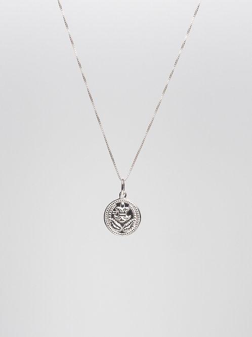 Fluer De Lis Coin Necklace