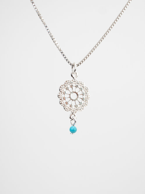 Turqouise Daisy Necklace