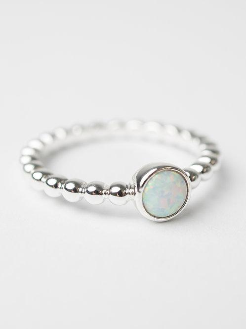 White Opalite Ring