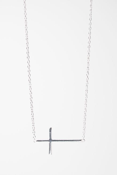 Side Cross Necklace