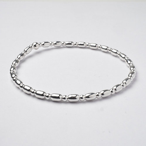 Oval Bead Stacker Bracelet