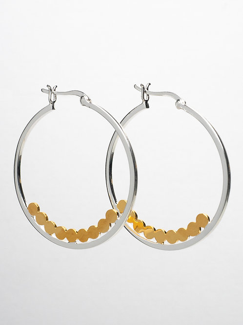 Gold Dotted Hoops