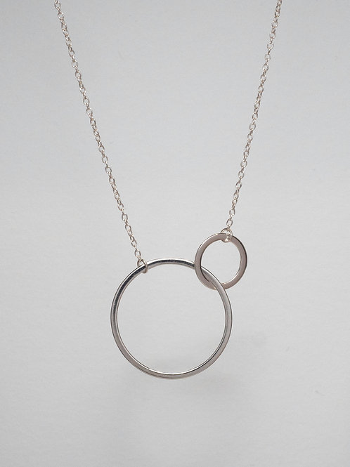 Twin Circle Necklace