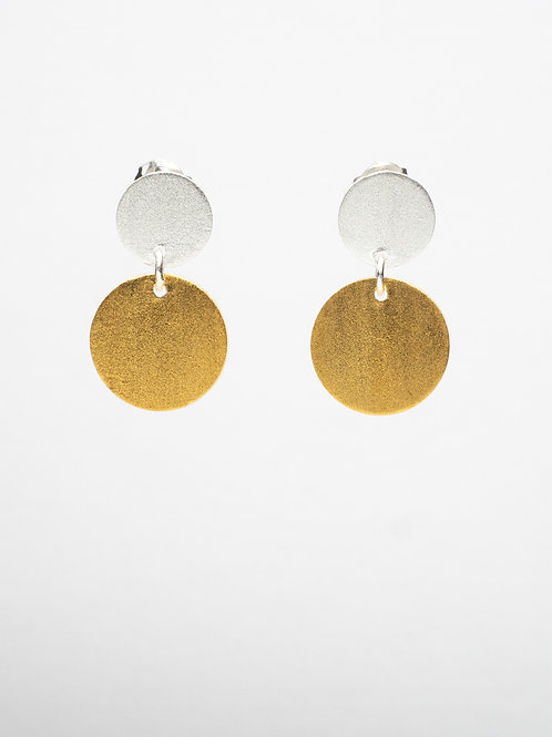 Matte Circle Drop Earrings
