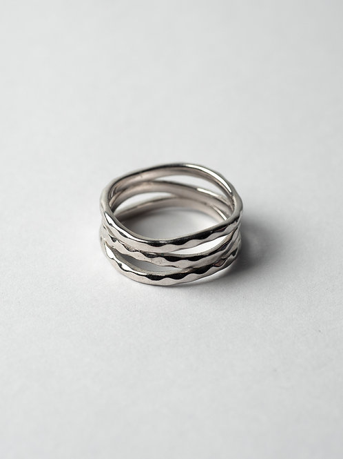 Hammered Layered Ring
