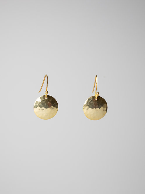 Hammered Dome Earring