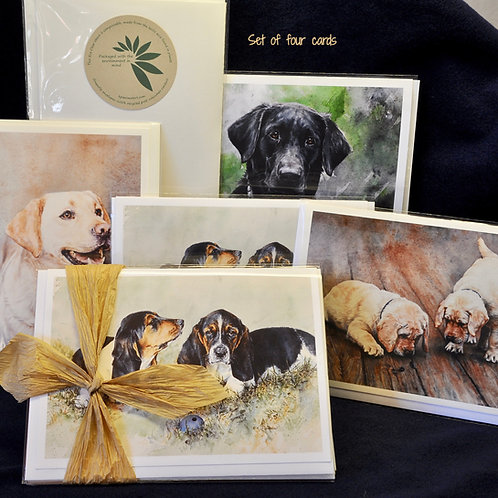 Set of 6 dog notecards (sku #103)