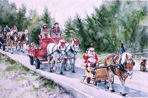 "California Christmas Parade"" (painting #95)"