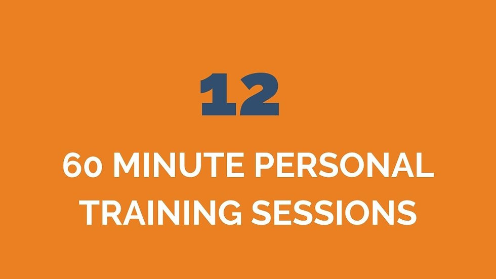12 PERSONAL TRAINING ONLY